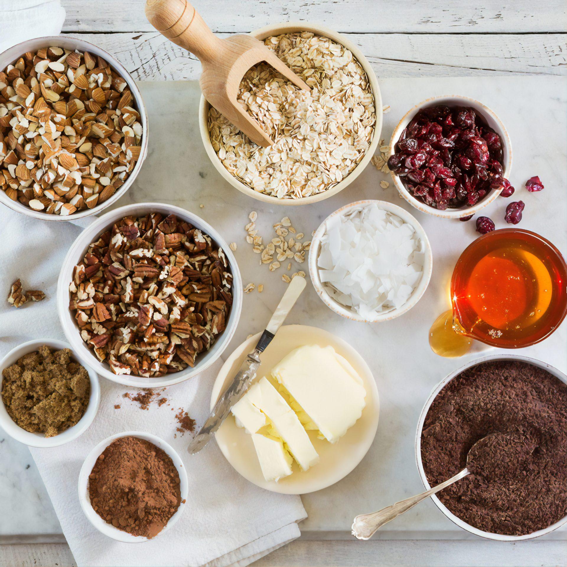 Kuivatatud toiduained hommiksöögil valmistamiseks